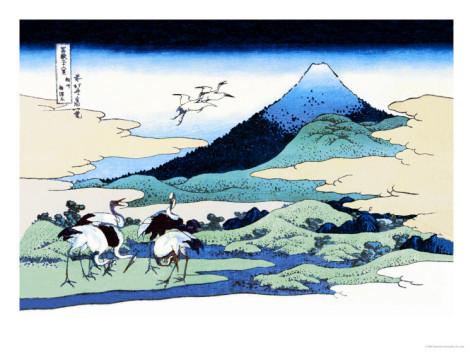 katsushika-hokusai-cranes-nearby-mount-fuji